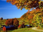 Vermont Woodstock In Autumn