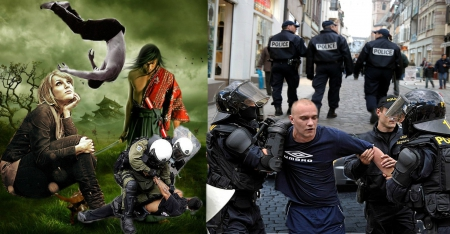 POLICE STATE - capture, police, action, falling