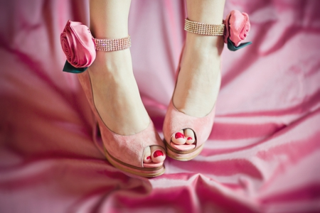 Pink Foot - flowers, foot, rose, pink
