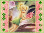 Tink with a flower wallpaper