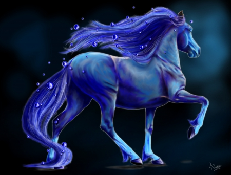 Blue fantasy Bubble horse~