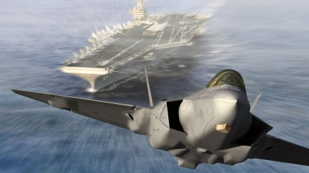 Carrier Takeoff - Carrier Takeoff, carrier jet, carrier, jet takeoff, aircraft carrier