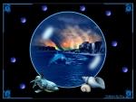 Ocean Scene In A Bubble 1600x1200