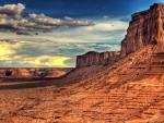 marvelous desert landscape hdr