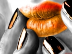 Sensuous Orange Lips