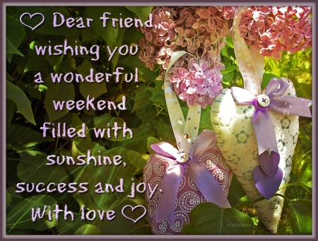 ♥ Weekend Wishing Card ♥