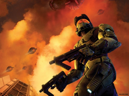 The siege - 117, dual wield, master chief, Halo