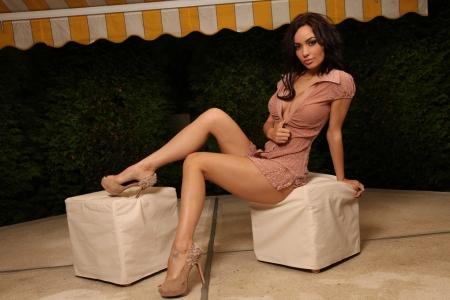 Adrienne Levai - model, tan, legs, babe, brunette, heels, Adrienne Levai