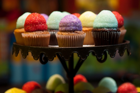 COLORFUL MINI CUPCAKES - pretty, colorful, lovely, food, cupcakes, cool, deserts, hot, cakes