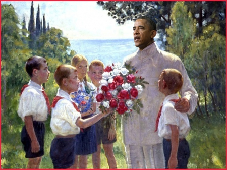 Roses for Obama - obama, stalin, dictator, communist