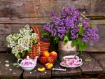 Tea and lilacs