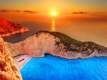 Navagio beach, Greece - Beaches & Nature Background ...