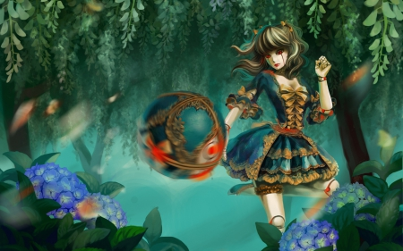 Orianna - orianna, forest, fantasy, girl, game, lol