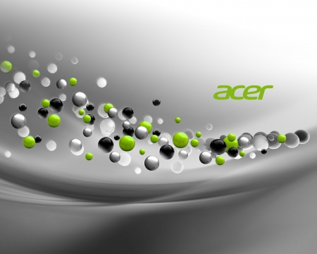 acer theme - white colour, colours, nice, balls