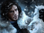Jon Snow & Puppy Ghost