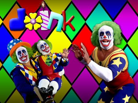 Doink the Clown - doink, wwf, borne, colors, clown, funny, diamonds, wwe, legends, flower, matt, the, wrestling, dink, jokes, dynamite
