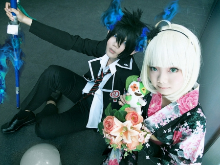 Shiemi~Rin - ao no exorcist, cosplay, anime, other