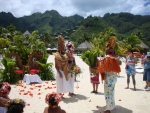 Polynesian Tahitian Wedding in Bora Bora