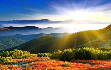 Beautiful Mountain Sunrise Wallpapers