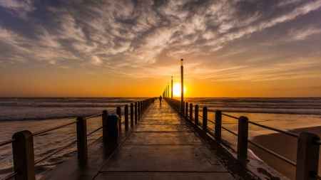 Gorgeous Sunset On A Pier In Durban South Africa Sunsets Nature