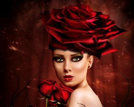Scent Of Red Rose Angel Fantasy Amp Abstract Background