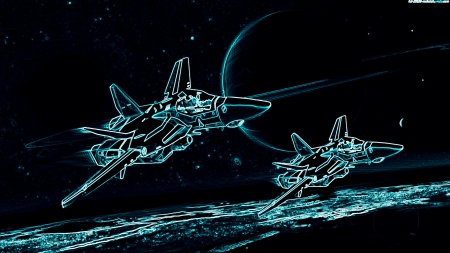 Aircraft - Sci Fi, Spaceship, Moon, Planet