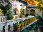 Flowery facade