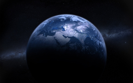 Beautiful Blue Earth - blue world, Beautiful Blue Earth, blue planet, earth from space, earth, blue earth