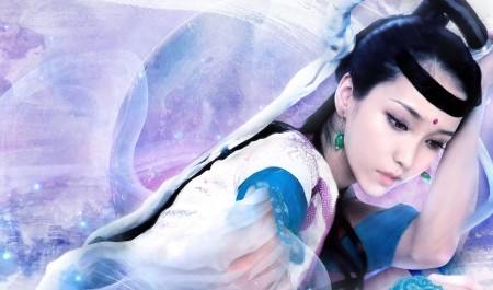 Asian Girl Art - art, fantasy, girl, wallpaper, digital, asian,