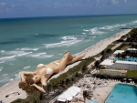 Giant Bikini Beach Babe