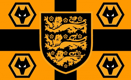 Two Greats - soccer, wolverhampton wanderers, england, crest, fc, three lions, wolverhampton, screensaver, 3 lions, wallpaper, love, football, wwfc, wolves, wanderers