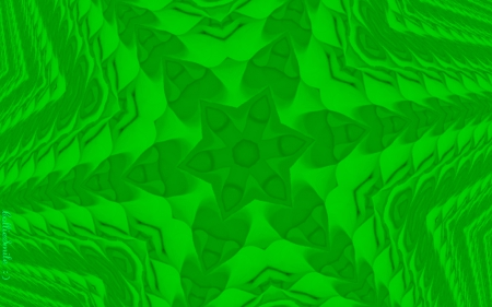 Mount Greenjeans - emera1d, kaleidoscope, kaleidoscopes too1, 3 dimensional, green, hearts, star