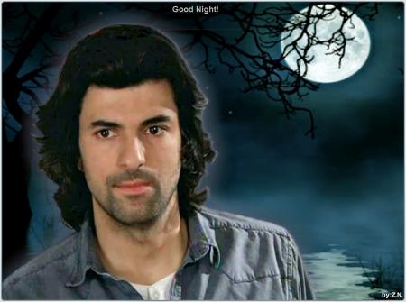 Engin Akyurek - moon, night, tree, Engin Akyurek