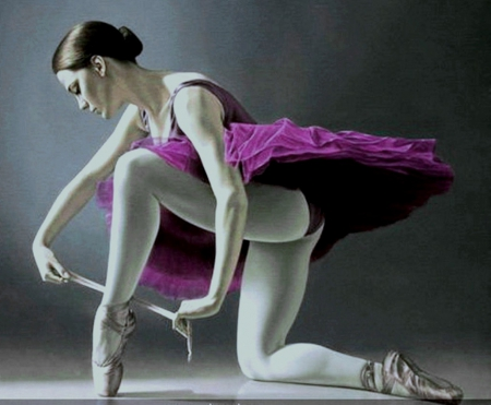 Ballerina - oil painting - art, image, wallpaper, expression, new, color