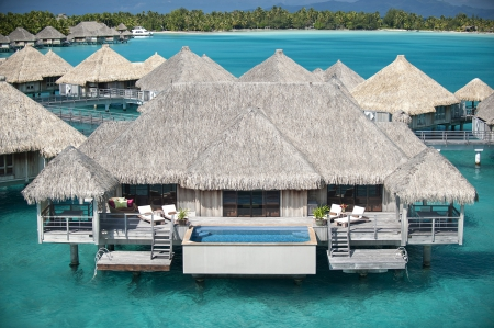 St Regis Royal Water Villa Bungalow suite Bora Bora Tahitian Paradise island - polynesia, resort, reef, zen, french, retreat, bungalow, atoll, lagoon, cape, aqua, swimming, islands, desert, quiet, tahitian, ocean, pacific, coral, south, pool, water, paradise, jacuzzi, perfect, villa, sea, bora bora, hot, room, blue, hotel, exotic, peace, escape, suite, tub, st regis, island, tropical, tahiti, villas