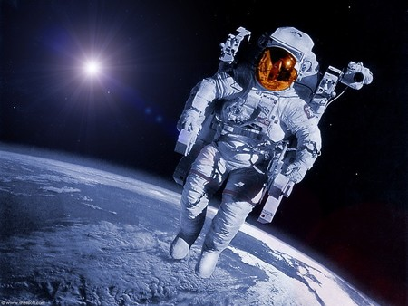 Backpacking 1 - astronaut, earth, orbit, space
