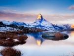 fabulous mt. matterhorn reflected in lake