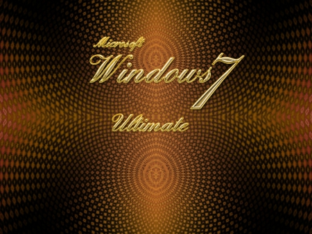 Gold Win7 Ultimate - Other, Ultimate, Abstract, Windows7, Free, Gold