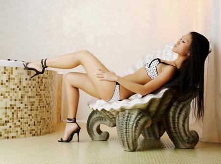Asian Mariko Stilettos Babe Mariko Model Asian