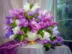 Lilac in the window