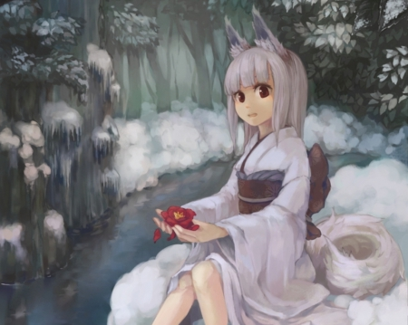 Snow Fox Other Amp Anime Background Wallpapers On Desktop