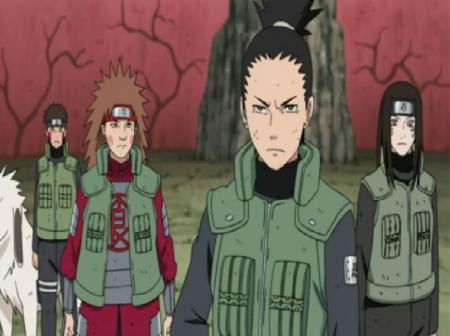 Shikamaru Choji Neji Kiba And Akamaru Naruto Anime Background