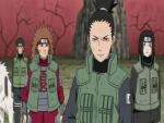 Shikamaru, Choji, Neji, Kiba and Akamaru