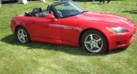1999 Honda S-2000 - photography, Red, black, Honda, seats, tires