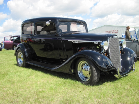 1934 Chevrolet - Grills, photography, Black, headlights, Chevrolet, Tires