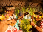 Bora Bora Tahitian Hawaiian Polynesian South Pacific Luau celebration ukulele singing ceremony