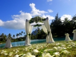 Beautiful Polynesia Beach Wedding Ceremony in Bora Bora Tahiti French Polynesia