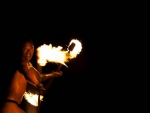 Polynesian Fire Dancer Thrower Bora Bora Tahiti Tahitian Island