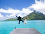 St Regis Wedding Honeymoon Bora Bora - Dream Paradise beach Polynesian wedding ceremony