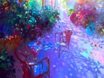 Summer: Impressionist Garden in Shadow